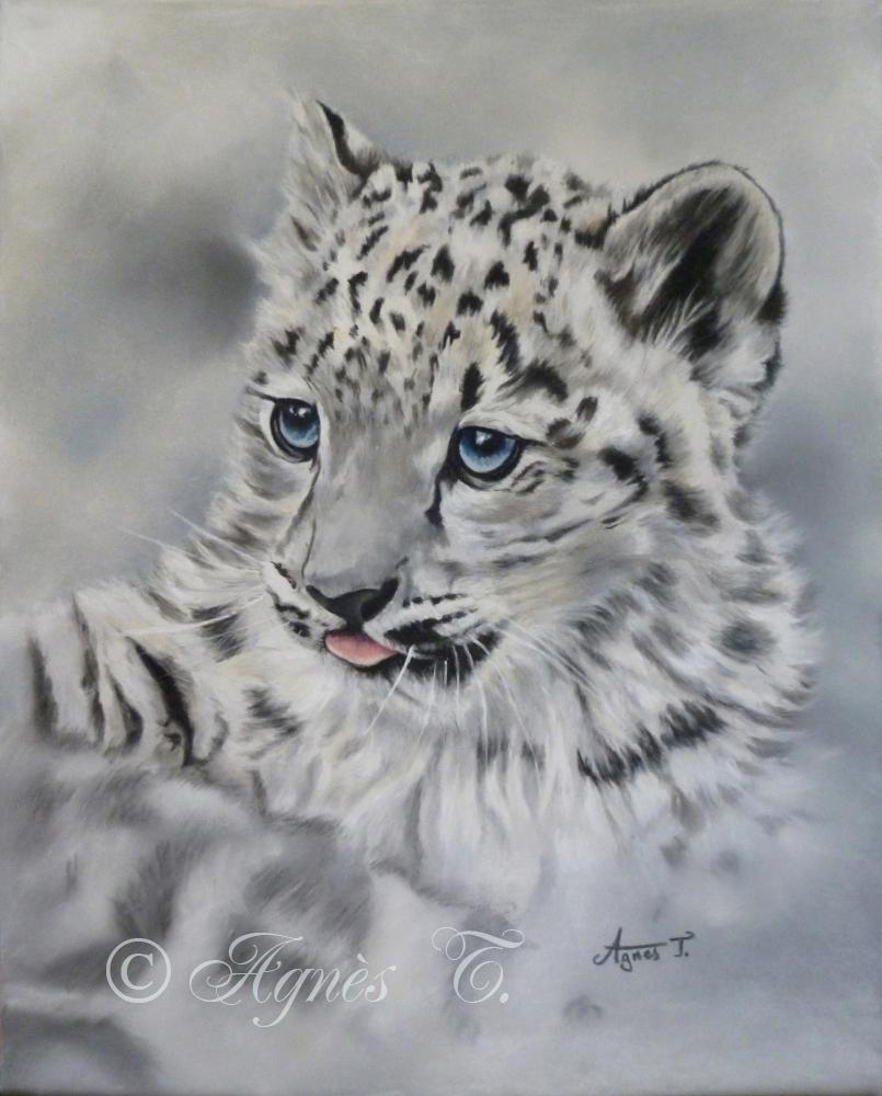AgnesT-pastels-leopard-des-neiges